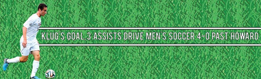 Klug's goal, 3 assists drive men's soccer 4-0 past Howard