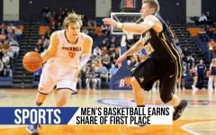 Men's basketball earns share of first place