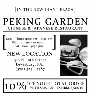 Peking Garden Ad 4-1-16