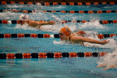 Swimming smashes nine school records at Patriot League Championships