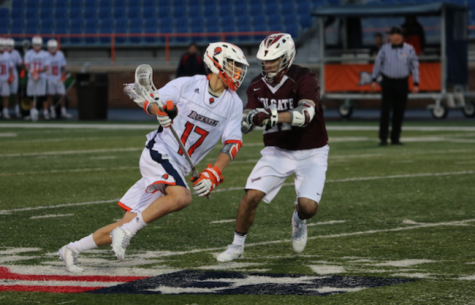 Men's lacrosse loses Patriot League opener to Colgate