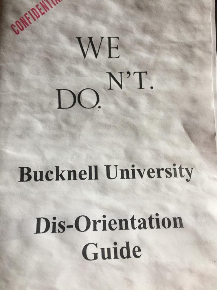 """WE DO.N'T"" pamphlets circulate campus during Admitted Student Open House"