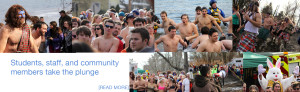 Students, staff, and community members take the plunge