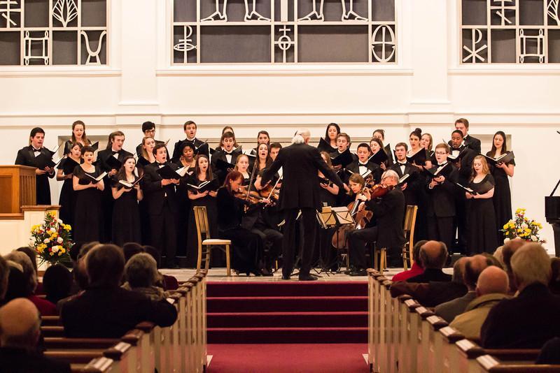 Students and string quartet perform collaborative concert