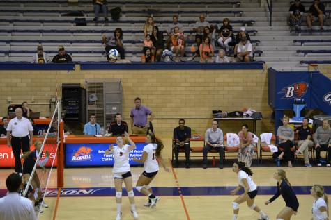Volleyball falls to UConn, Cornell in first home matches