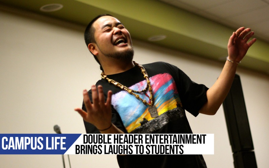 Double Header Entertainment brings laughs to students