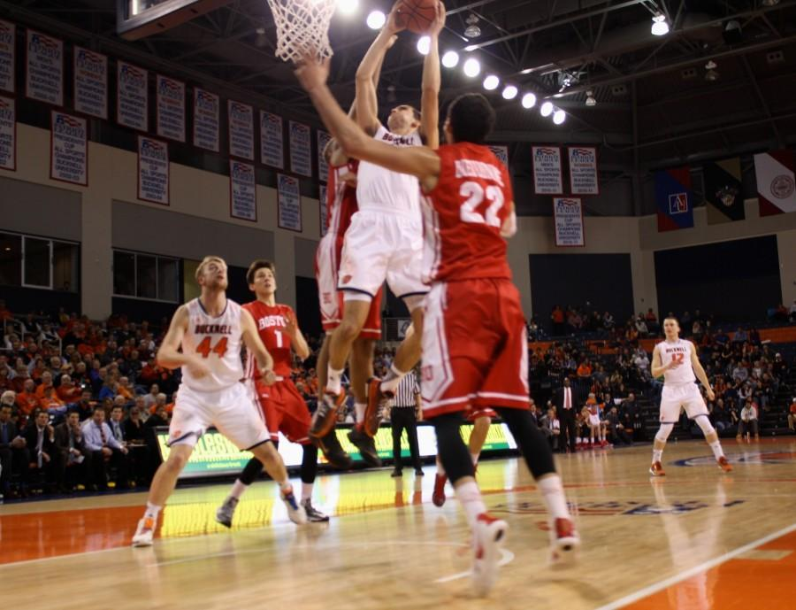Men's Basketball Enjoys Senior Day Win over Boston; Top Seed Still Up in the Air after Loss at Lehigh