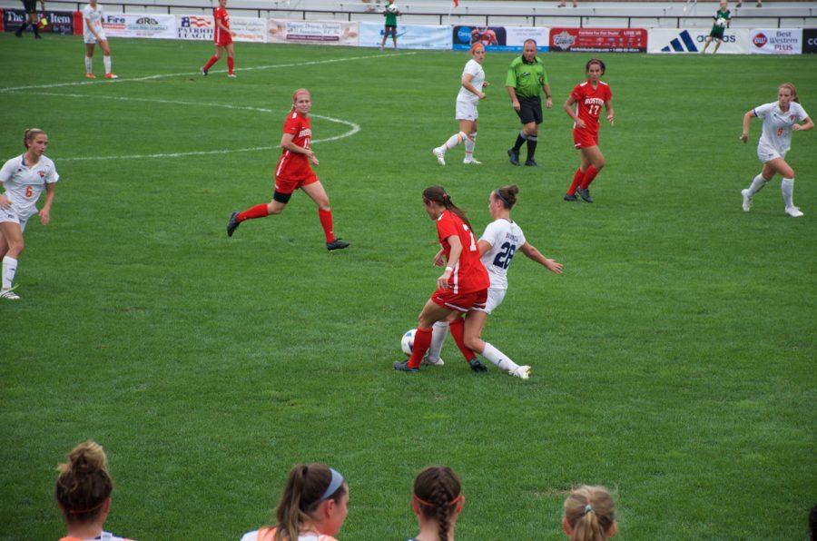Women's soccer defeats Boston 2-0 in PL opener