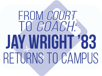 From court to coach: Jay Wright '83 returns to campus
