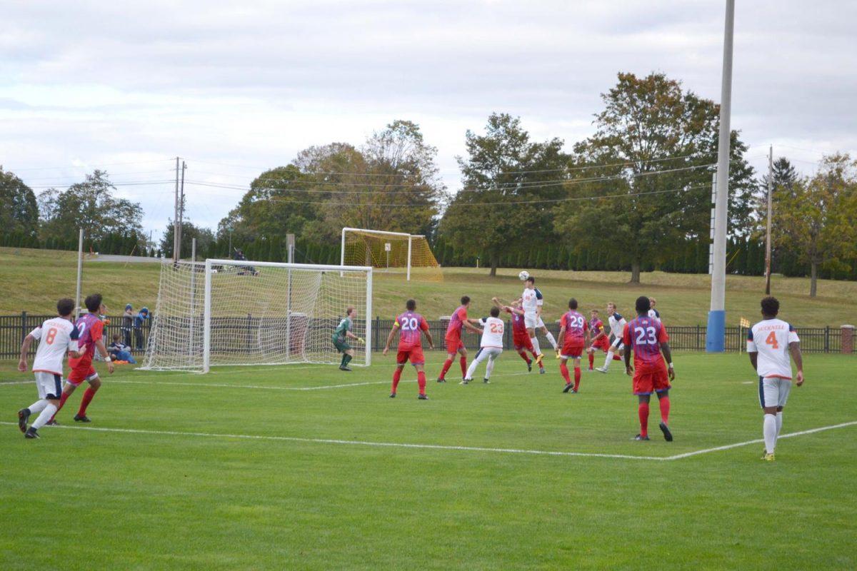 Men's soccer records first league win of season