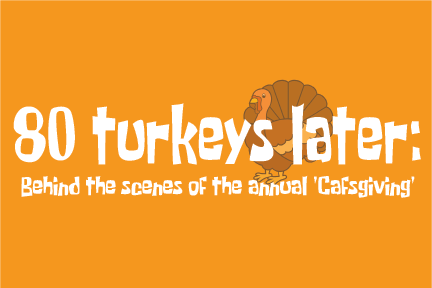 80 turkeys later: Behind the scenes of the annual 'Cafsgiving'