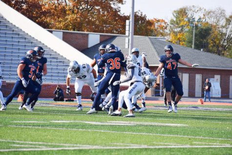 Football shuts out Georgetown on Senior Day
