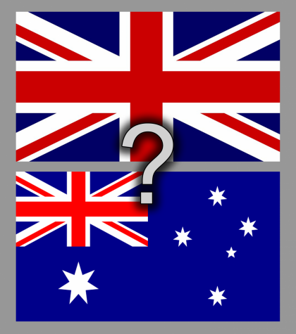 Confession: I can't tell the difference between the British and Australian flags and at this point I'm too embarrassed to ask