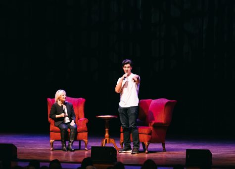 Josh Peck speaks at Weis Center