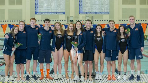 Swimming and diving celebrate Senior Day before facing off against Lehigh
