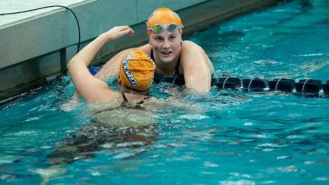 Men's and women's swimming and diving teams take third at PL Championships