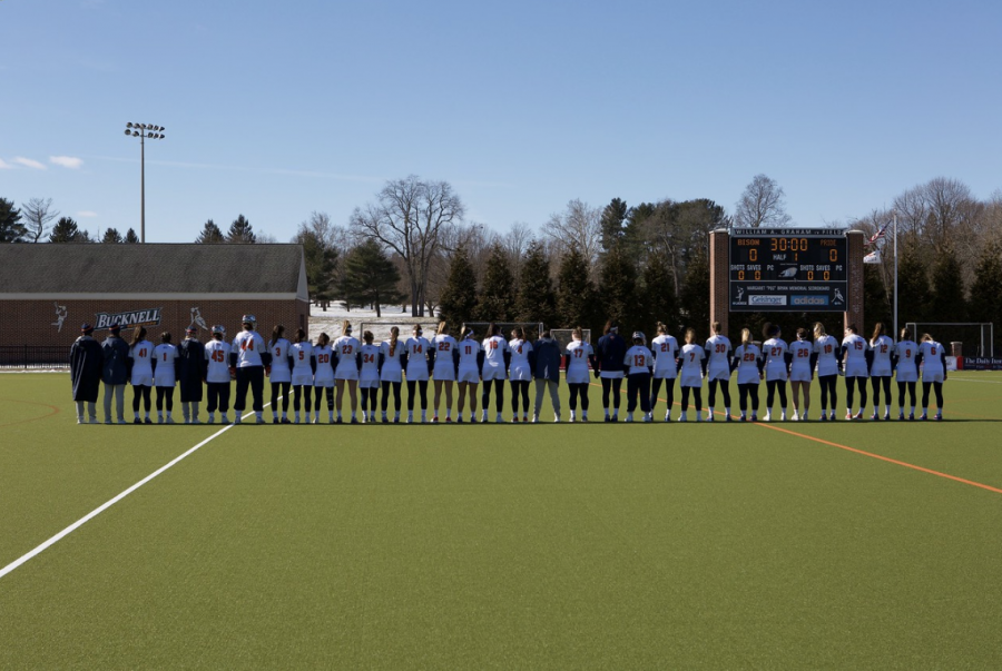 On+Feb.+16+the+women%E2%80%99s+lacrosse+team+competed+in+their+home+opener+against+Hofstra.