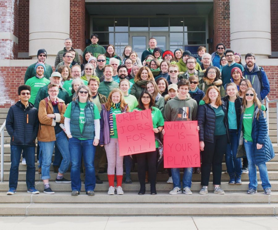 Campus gathers for Day of Action in support of Green New Deal