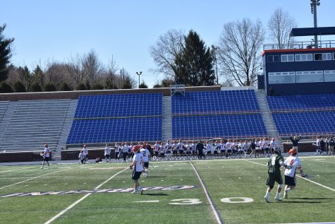 Men's lacrosse loses close game to Army 15-13, overcomes Marist 10-7
