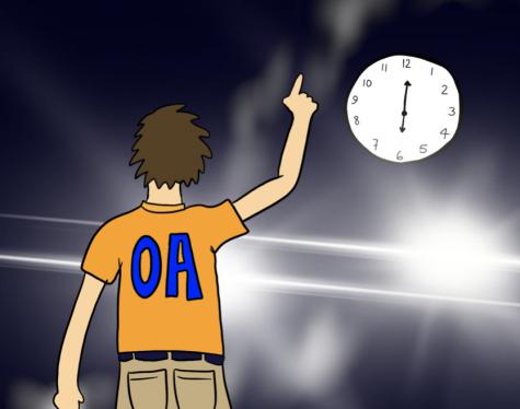 Prospective OAs practice 6 a.m. dance moves