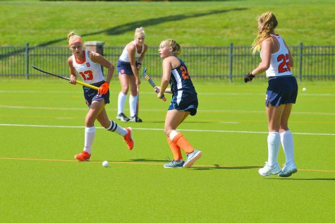 Bison field hockey splits weekend road games