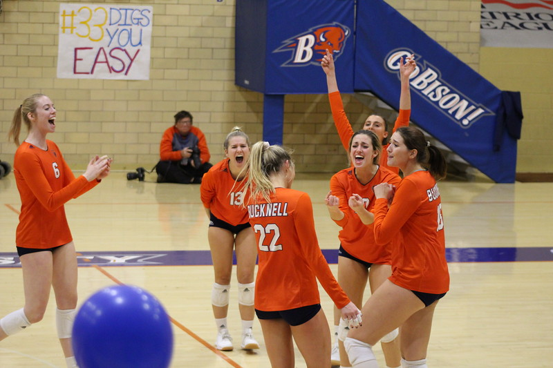 Bison volleyball falls to Patriot League leader Colgate in final game