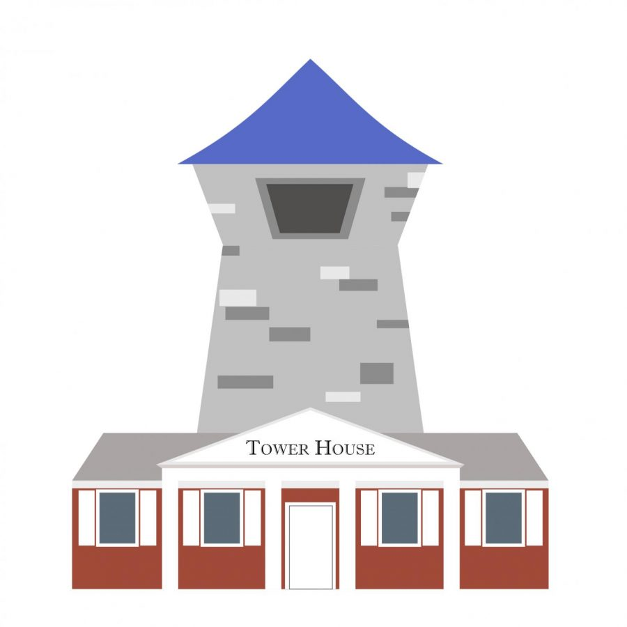 Tower house color