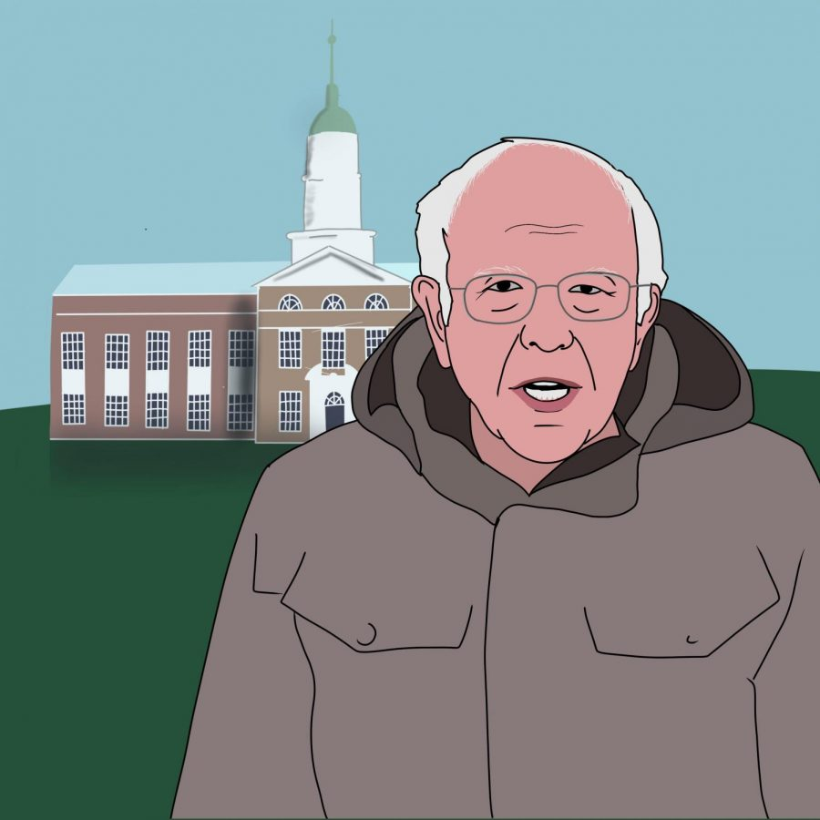 Bernie Sanders comes to campus to ask for your financial support