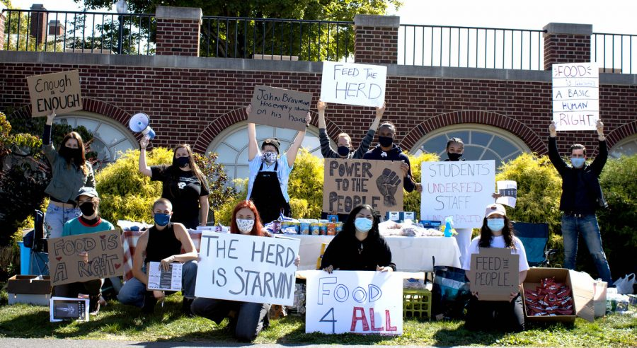 University students protest food insecurity