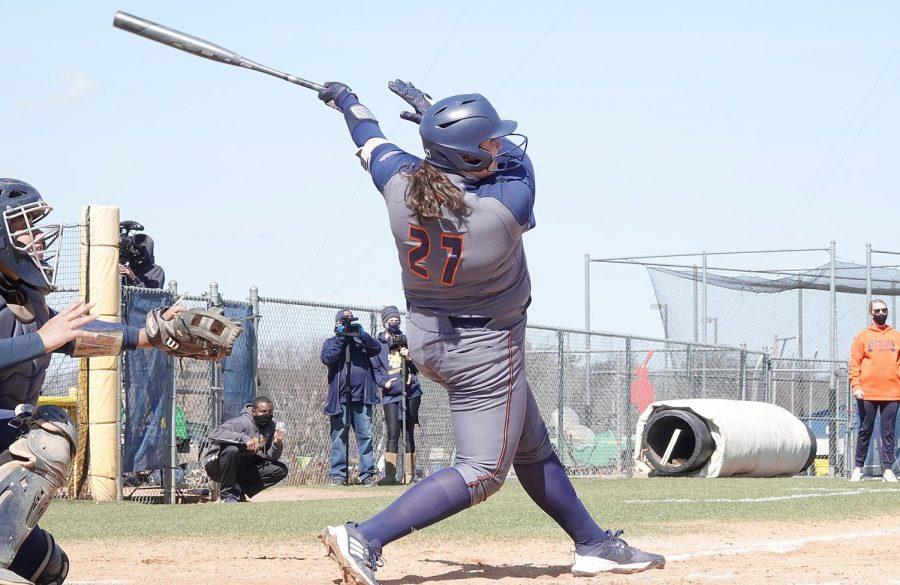Bison softball endure tough weekend at Army