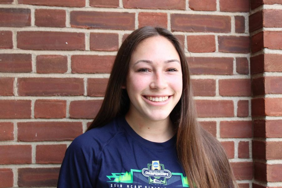 Senior who excelled in athletics: Maura Fiamoncini