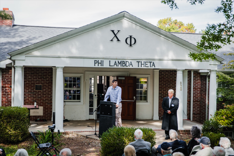Chi Phi chapter house renamed after alumnus Tom Deans